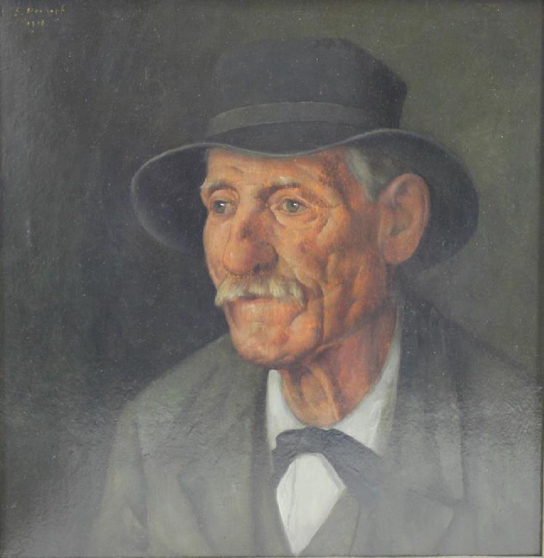 SLOSHOPF, G. Oil on Board. Portrait of a Gentleman.