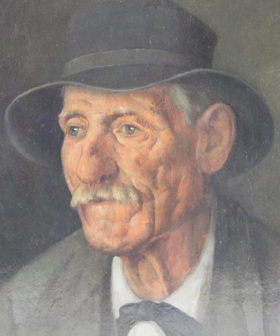 SLOSHOPF, G. Oil on Board. Portrait of a Gentleman. - 2