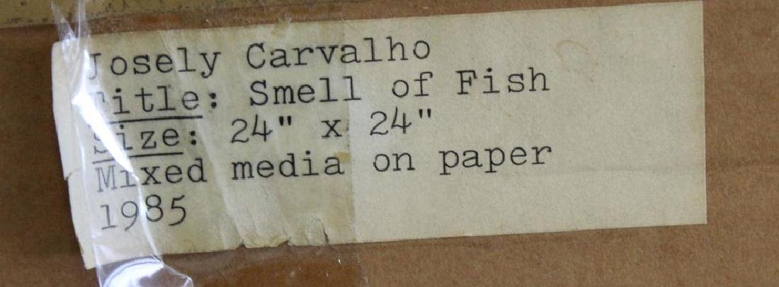 "CARVALHO, Josely. Mixed Media on Paper. ""Smell of - 5"