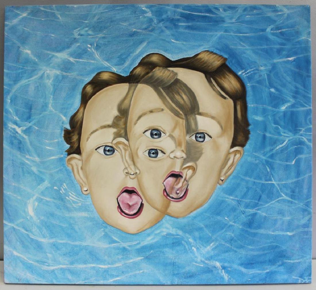 "FONTANET, Diego. Oil on Canvas. ""Clonacion"