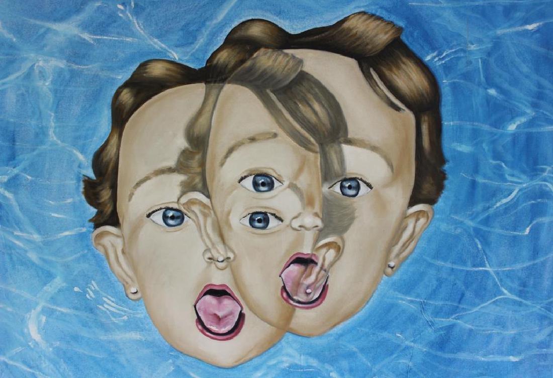 "FONTANET, Diego. Oil on Canvas. ""Clonacion - 2"