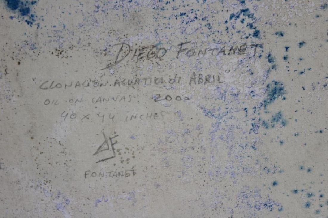 "FONTANET, Diego. Oil on Canvas. ""Clonacion - 5"