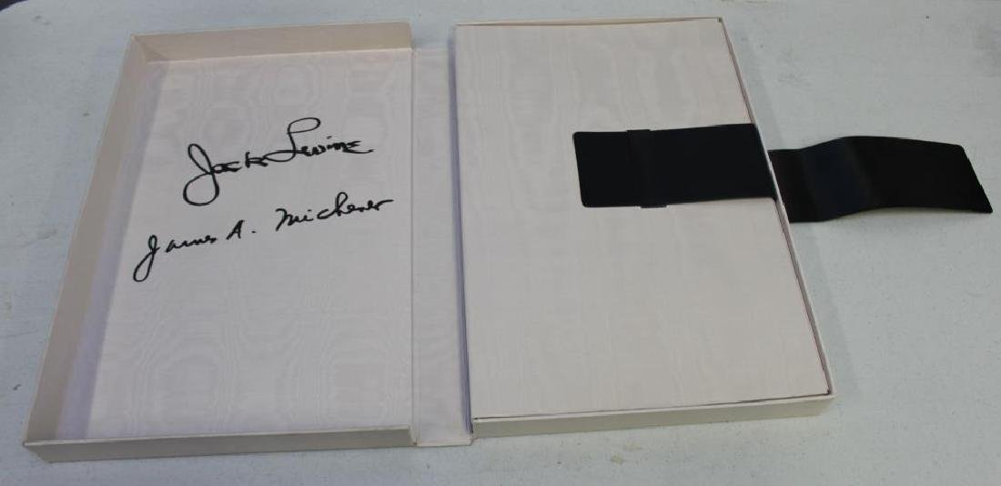 "LEVINE, Jack and James Michener. Folio. ""Facing - 2"