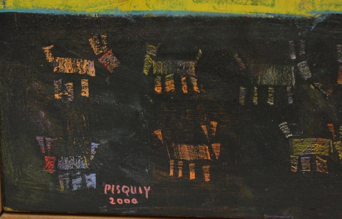 """PISQUIY, Roland. Oil On Canvas. """"Flauteros"""". - 4"""