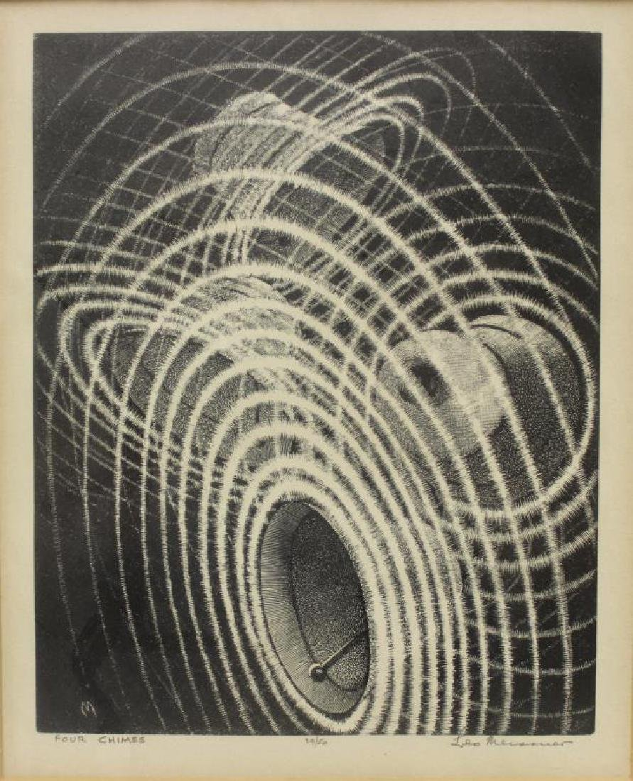 """MEISSNER, Leo. Lithograph. """"Four Chimes""""."""