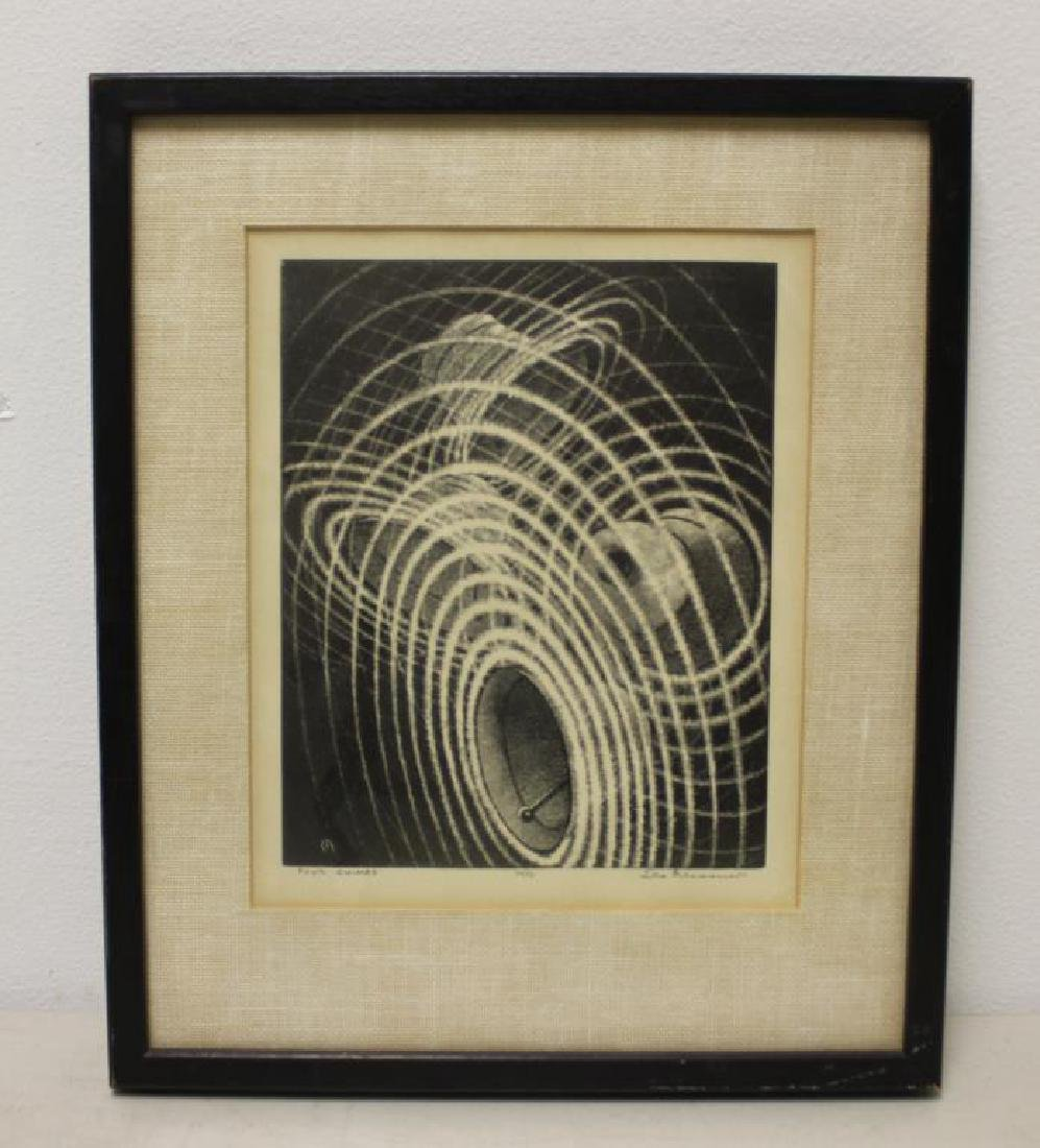 """MEISSNER, Leo. Lithograph. """"Four Chimes"""". - 2"""
