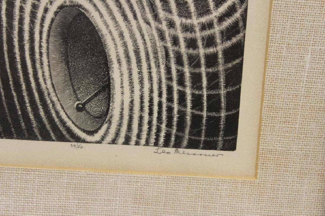 """MEISSNER, Leo. Lithograph. """"Four Chimes"""". - 3"""