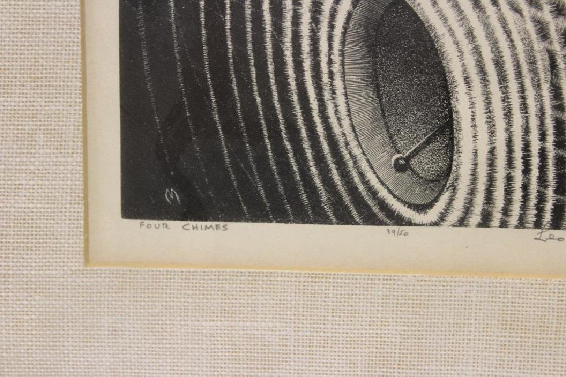 """MEISSNER, Leo. Lithograph. """"Four Chimes"""". - 4"""