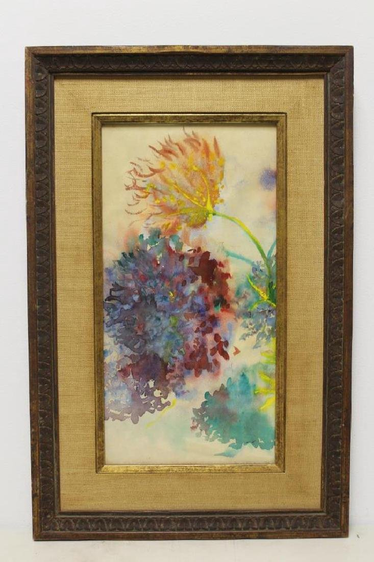 SIGNED. Watercolor. Floral Still Life. - 2