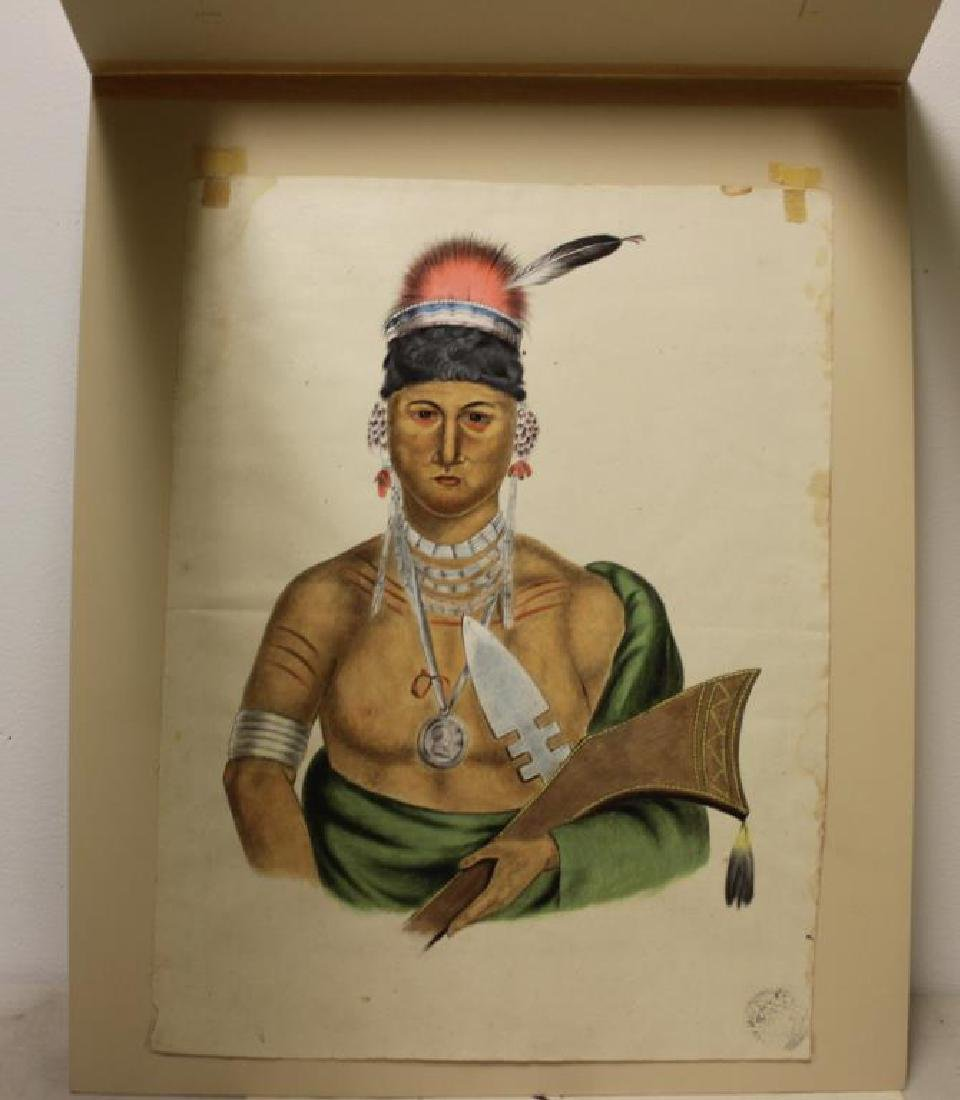 UNSIGNED. 2 Watercolors of Native Americans. - 4
