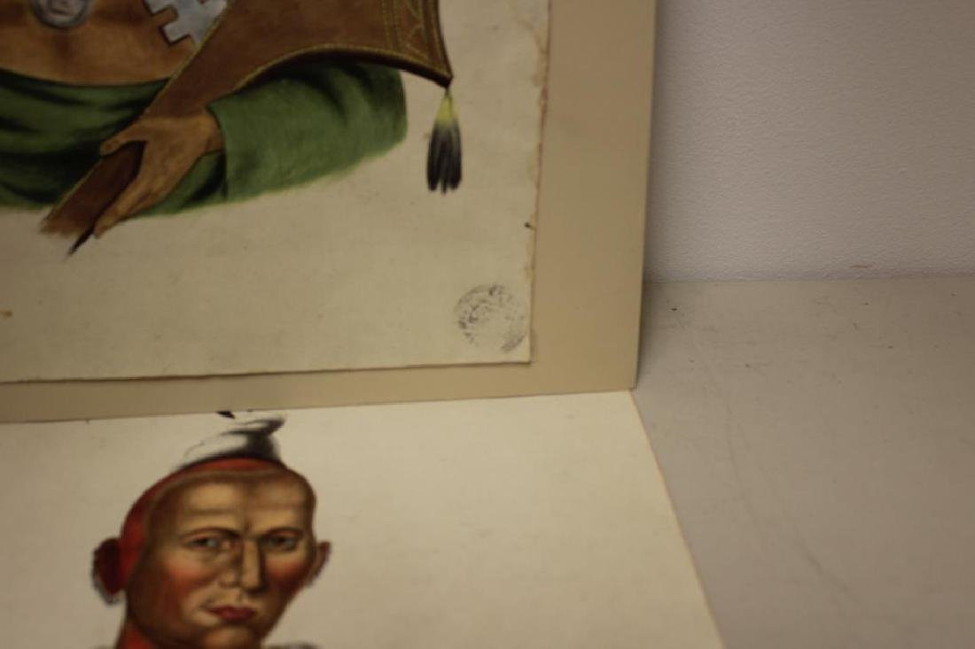 UNSIGNED. 2 Watercolors of Native Americans. - 5