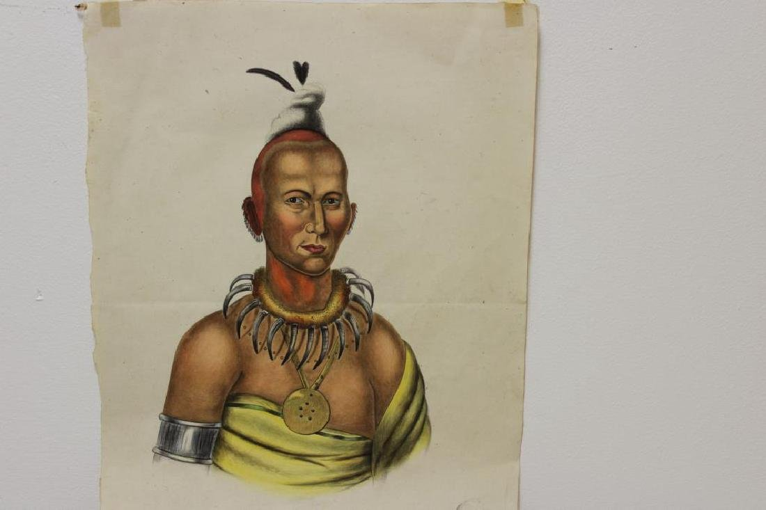 UNSIGNED. 2 Watercolors of Native Americans. - 6