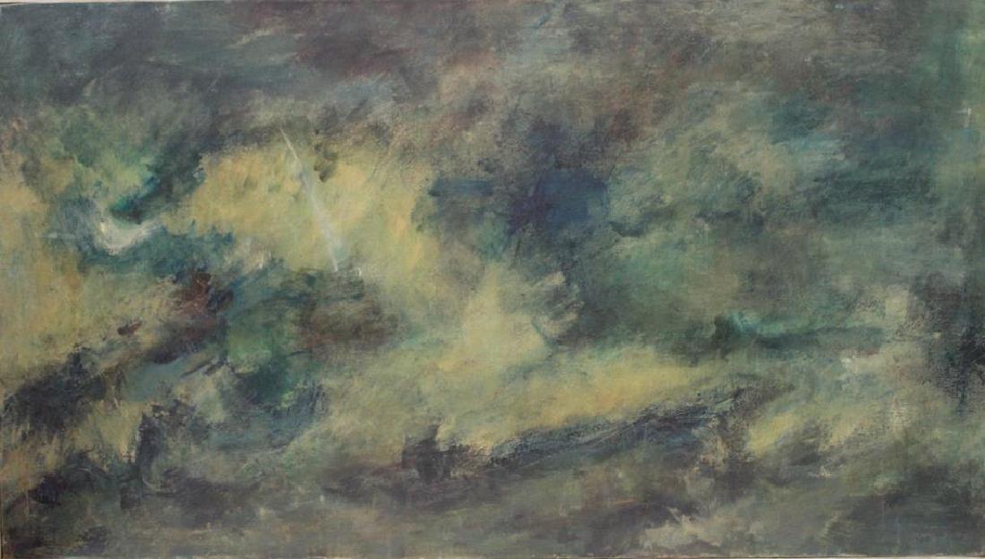BORNSTEIN, Yetta. Oil on Canvas. Abstract Composition.
