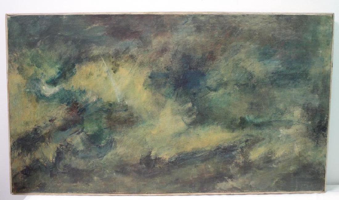BORNSTEIN, Yetta. Oil on Canvas. Abstract Composition. - 2