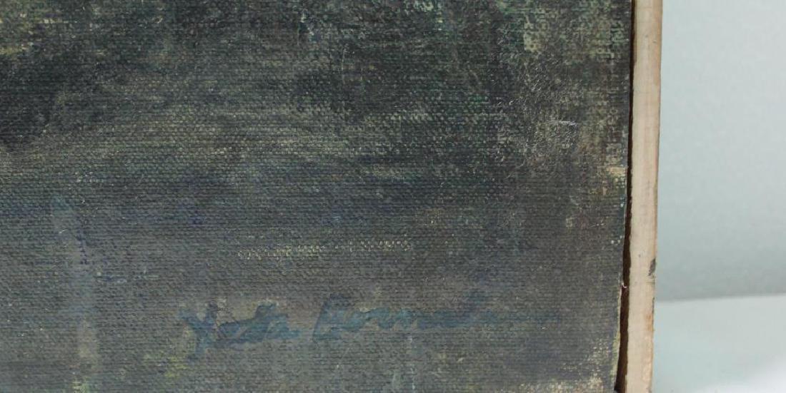 BORNSTEIN, Yetta. Oil on Canvas. Abstract Composition. - 4