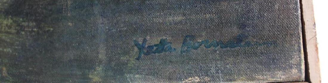 BORNSTEIN, Yetta. Oil on Canvas. Abstract Composition. - 5