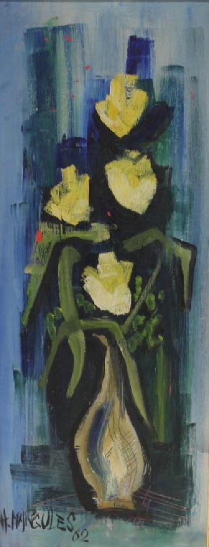 MARGULES, H. Oil on Canvas. Floral Still Life.
