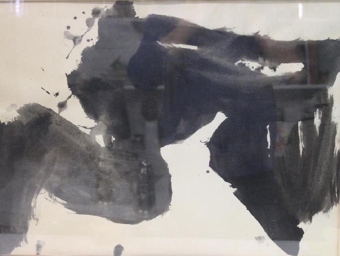 GRILLO, John. Ink Wash on Paper. Abstract. 1959.