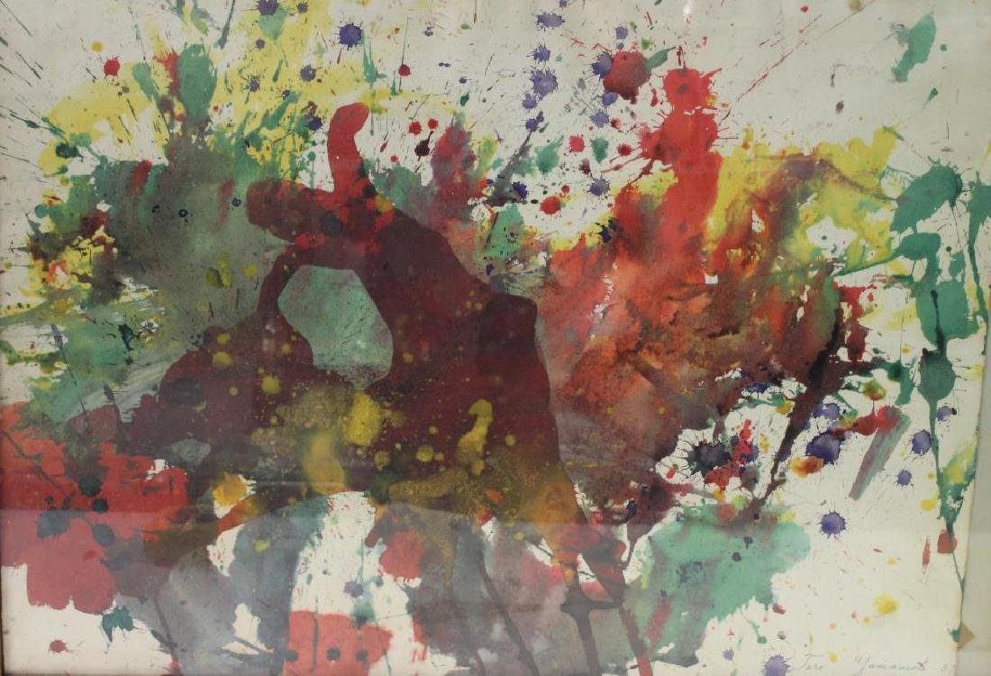 YAMAMOTO, Taro. Watercolor. Abstract.