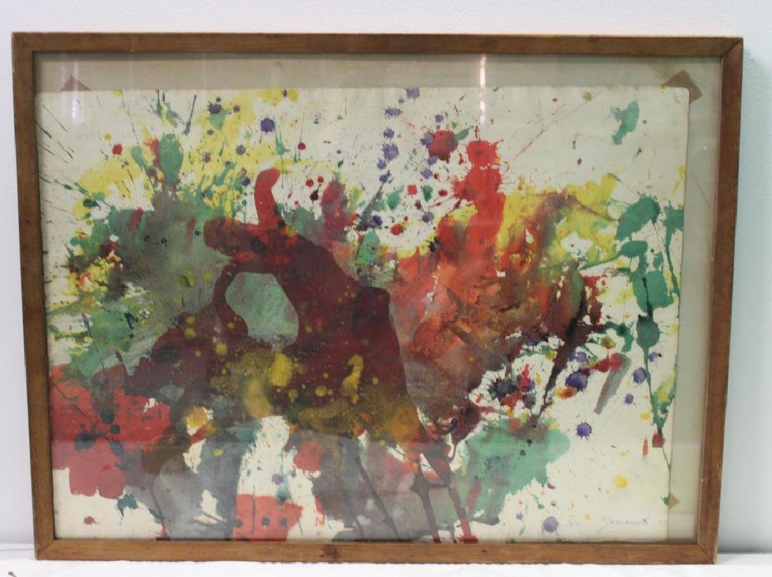 YAMAMOTO, Taro. Watercolor. Abstract. - 2