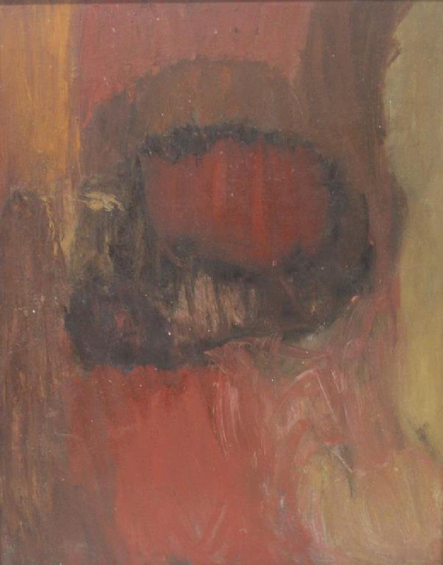 WEINSTEIN, Florence. Oil On Board. Abstract