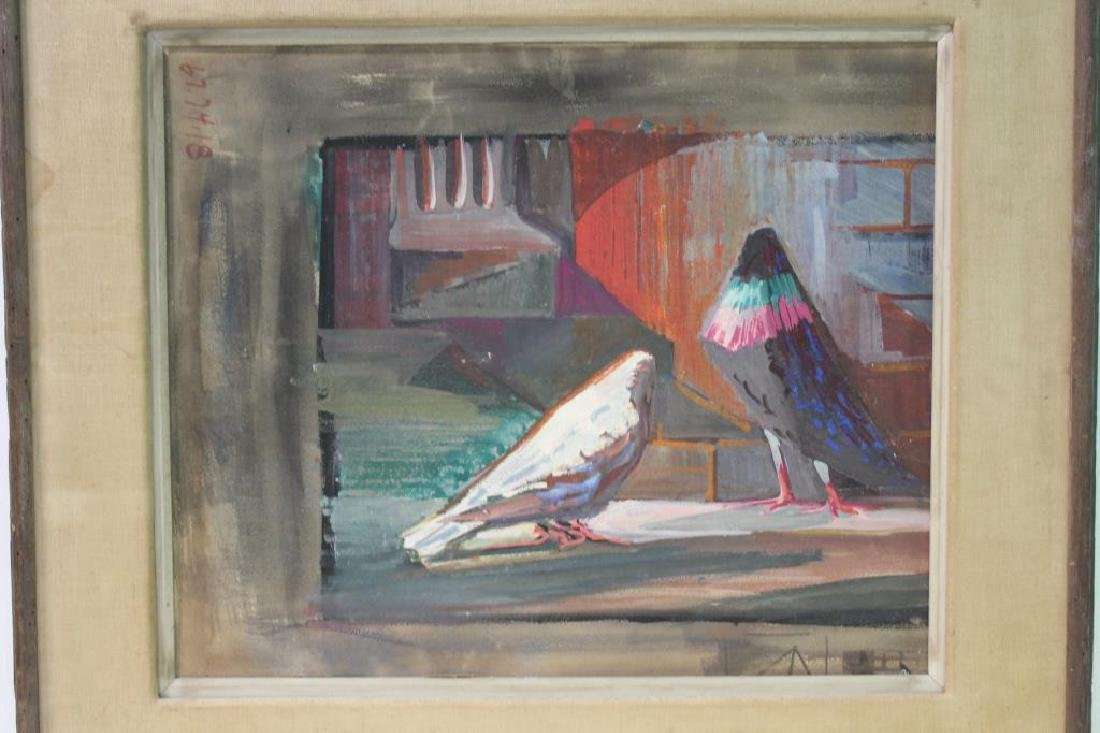 UNSIGNED. Gouache on Paper Board. Birds. - 3