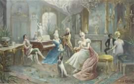 GONTART, E.R. Oil on Canvas .19th Century Genre