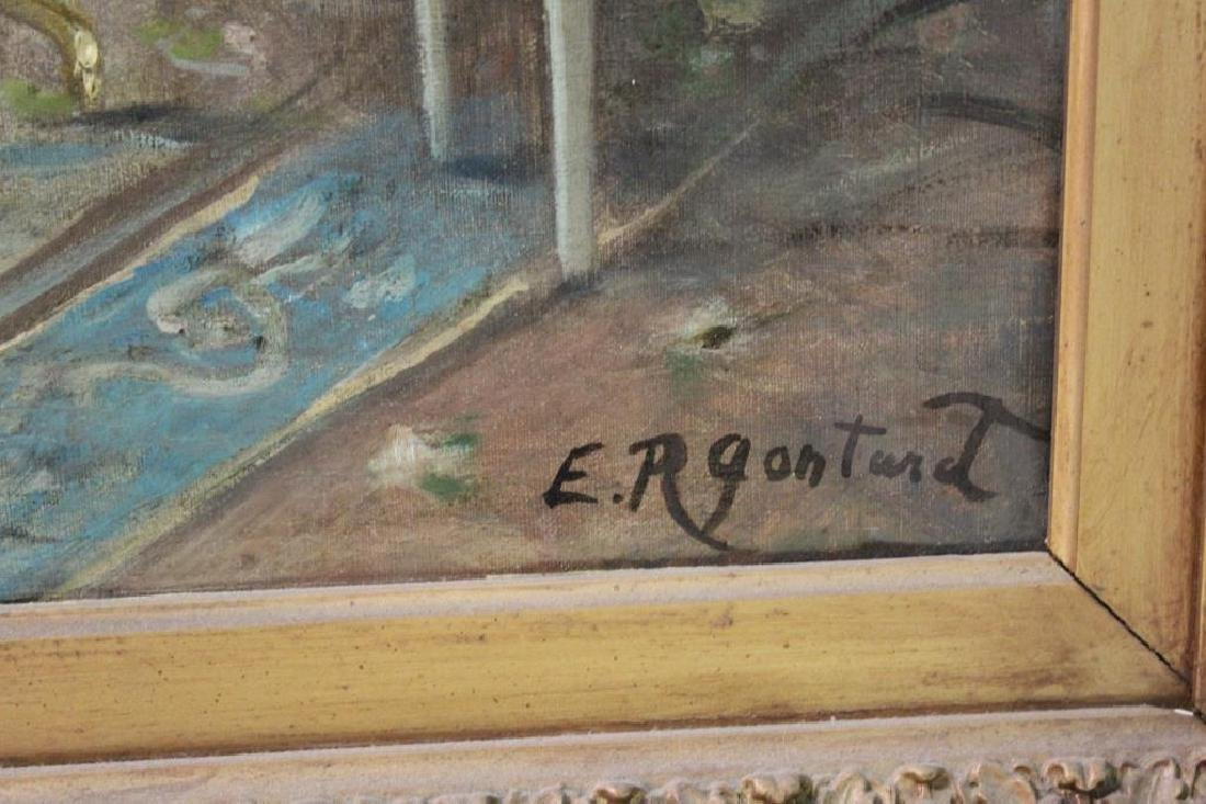 GONTART, E.R. Oil on Canvas .19th Century Genre - 4