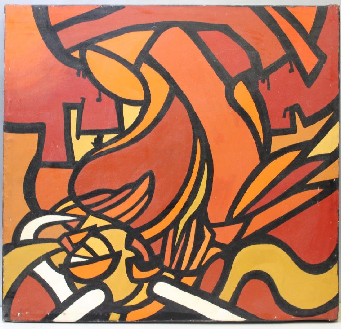 UNSIGNED. Oil on Canvas. Abstract Composition.