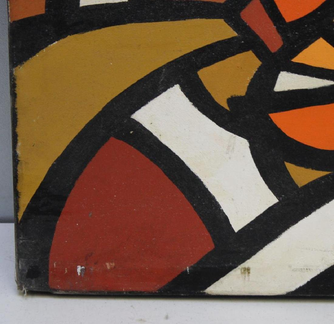 UNSIGNED. Oil on Canvas. Abstract Composition. - 2