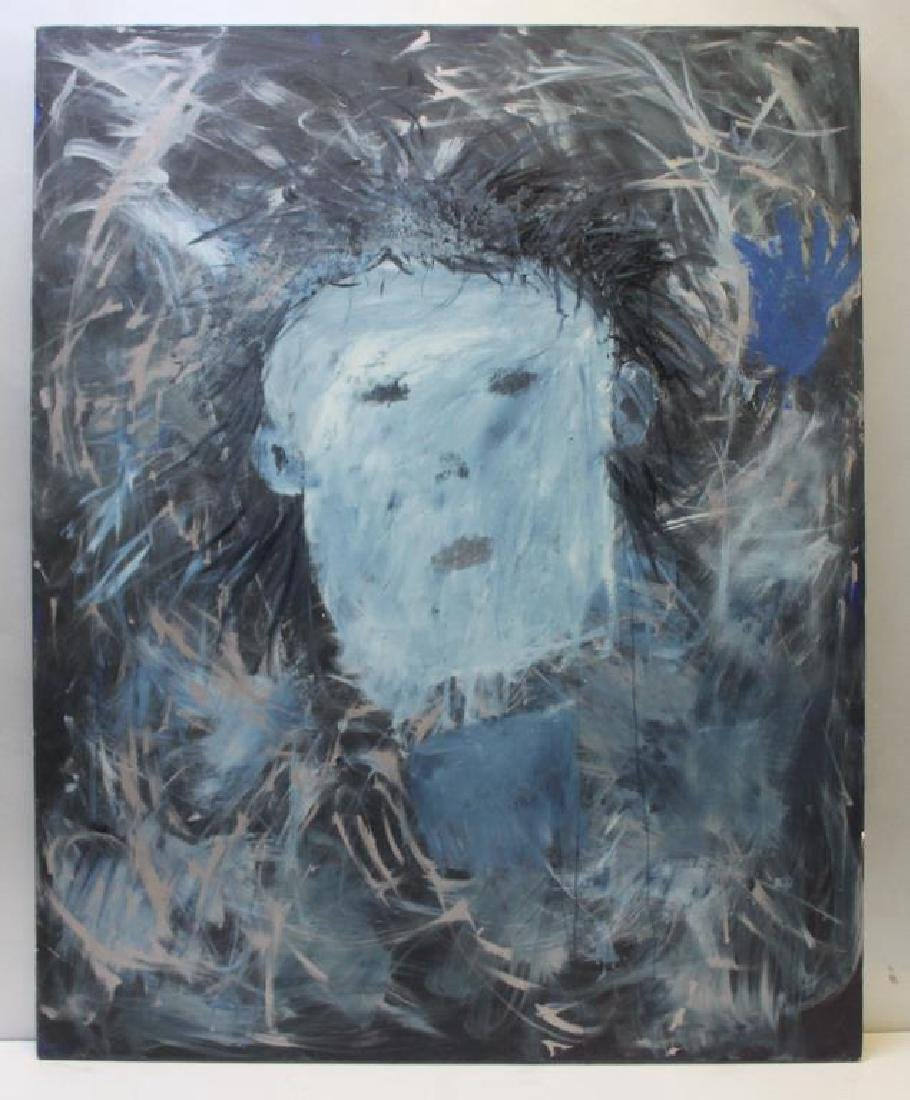 UNSIGNED. Oil on Canvas. Abstract Face. - 2