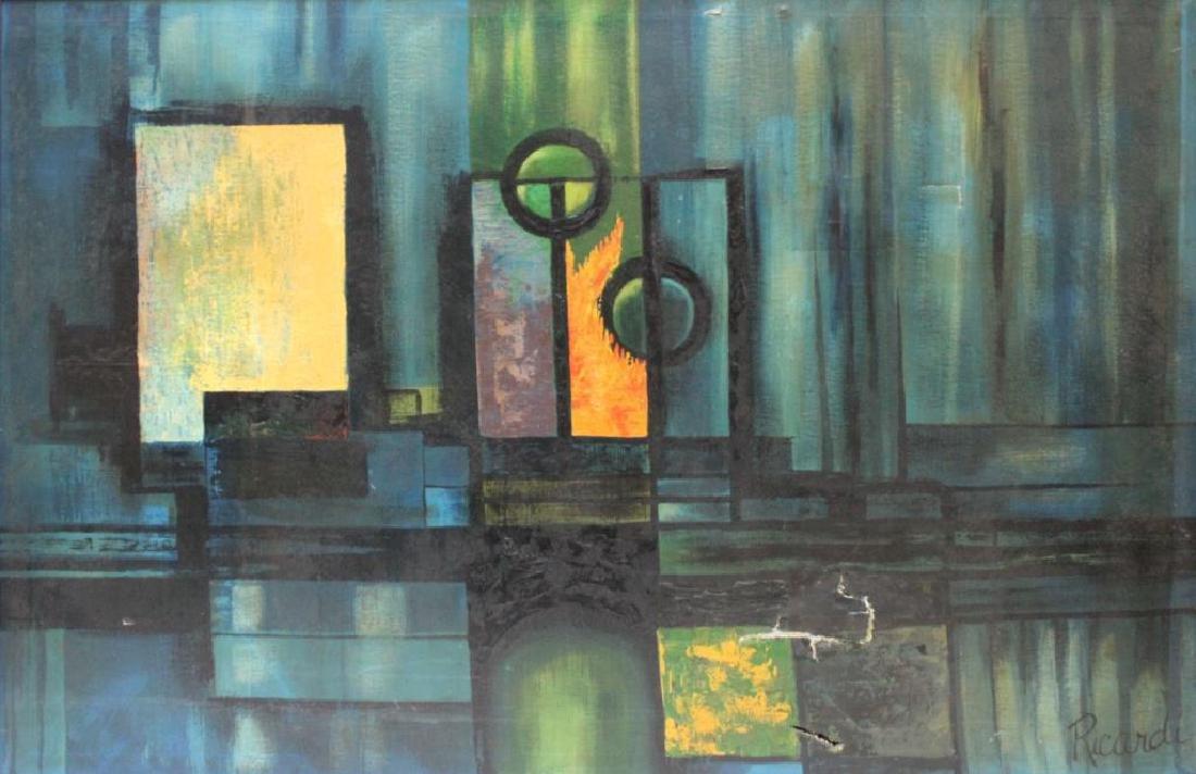 RICARDI. Oil on Canvas. Abstract.