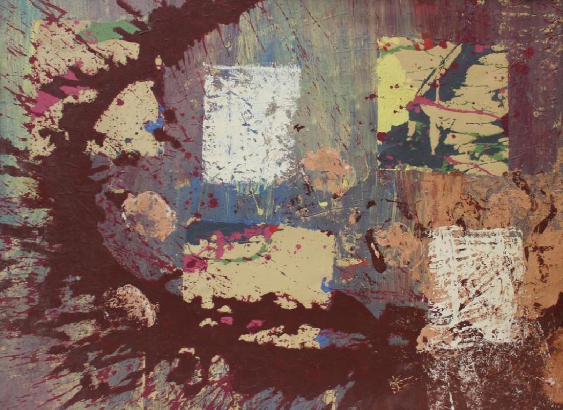 HUTCHINSON, Sarah. Oil on Canvas. Abstract.
