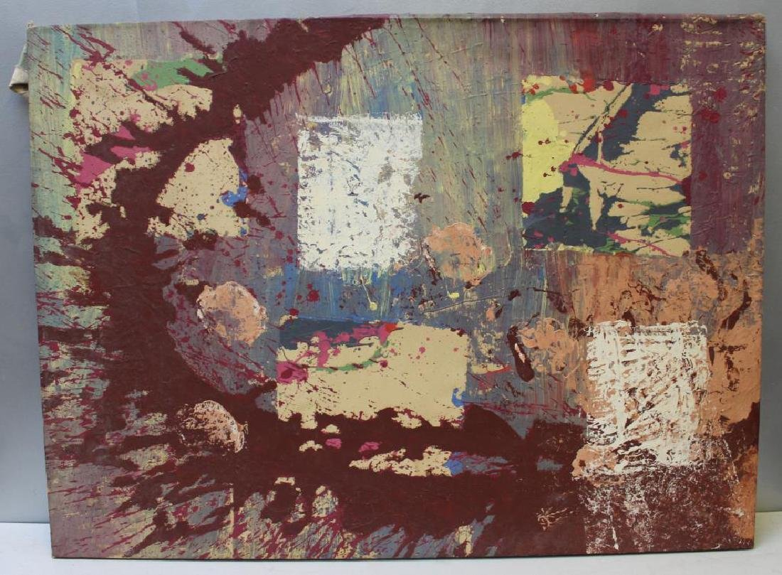 HUTCHINSON, Sarah. Oil on Canvas. Abstract. - 2