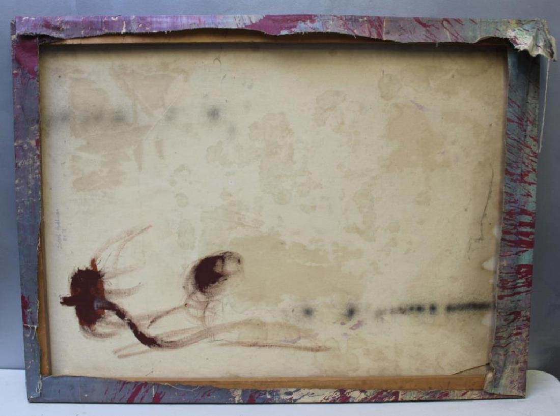 HUTCHINSON, Sarah. Oil on Canvas. Abstract. - 3