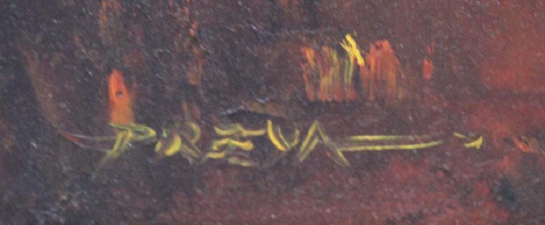 PREYA. Oil on Canvas. Buddha Face. - 3