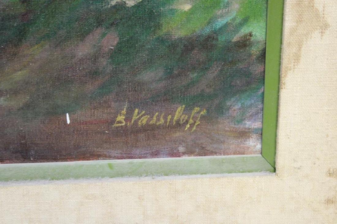 VASSILOFF. Oil on Canvas. Woman Walking Child. - 3