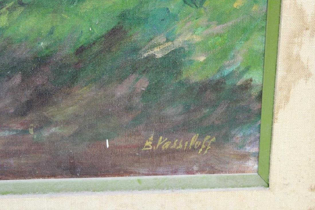 VASSILOFF. Oil on Canvas. Woman Walking Child. - 4