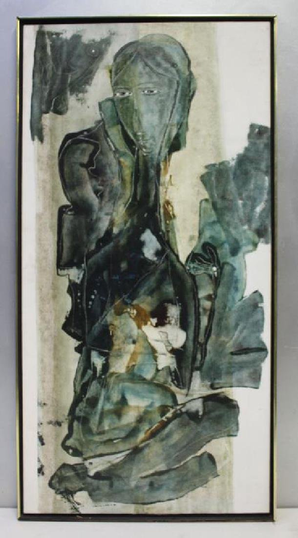 KIMBALL. Oil on Canvas. Abstract Woman.