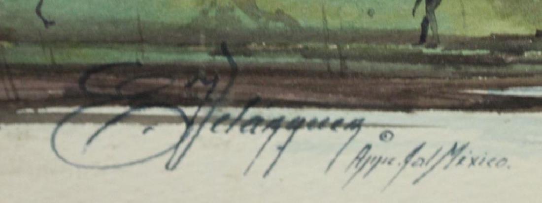 VELASQUEZ, E. Watercolor. River Landscape. - 3