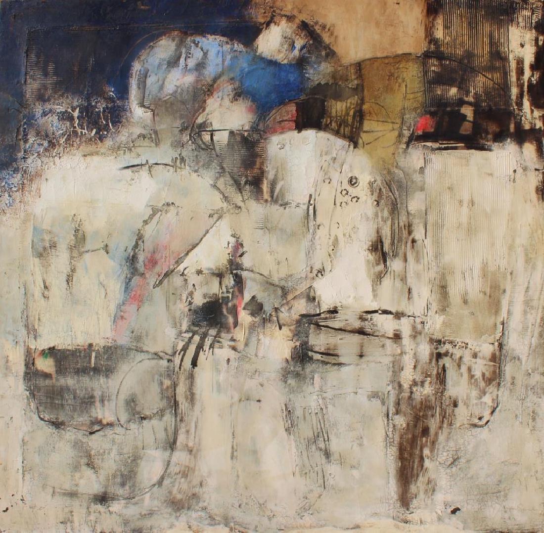 SANCHEZ, Juan. Oil on Canvas. Abstract.