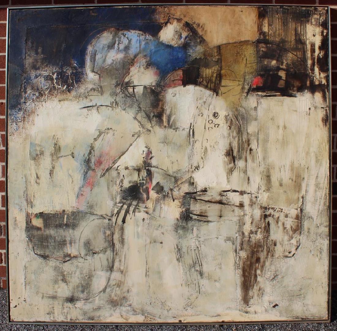 SANCHEZ, Juan. Oil on Canvas. Abstract. - 2