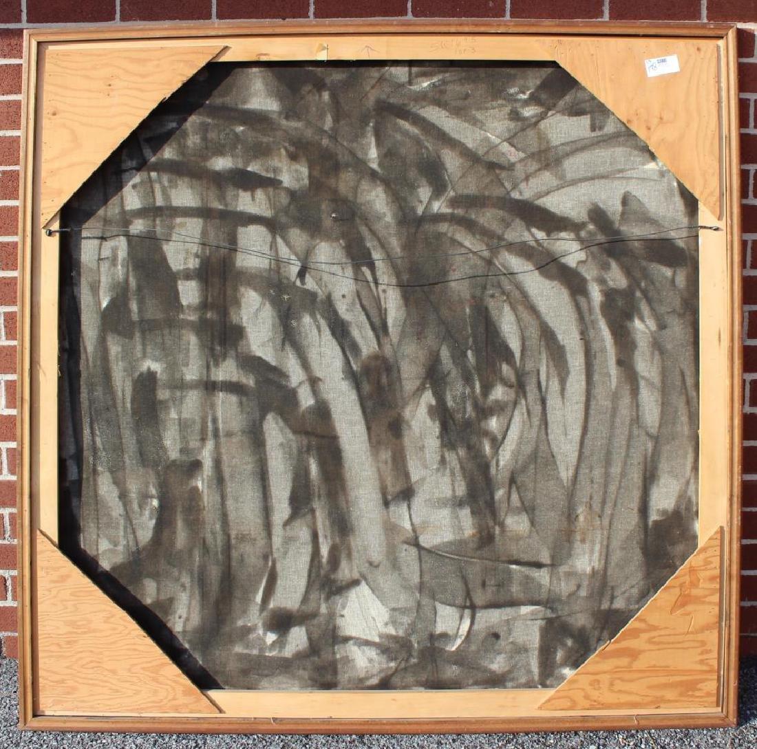 SANCHEZ, Juan. Oil on Canvas. Abstract. - 5