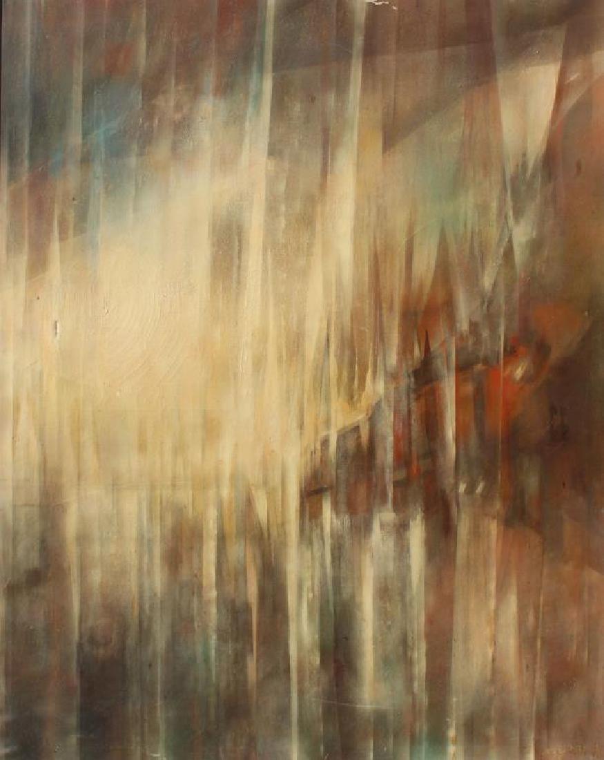"""BECK, Margit. Oil On Canvas. """"Prisms""""."""