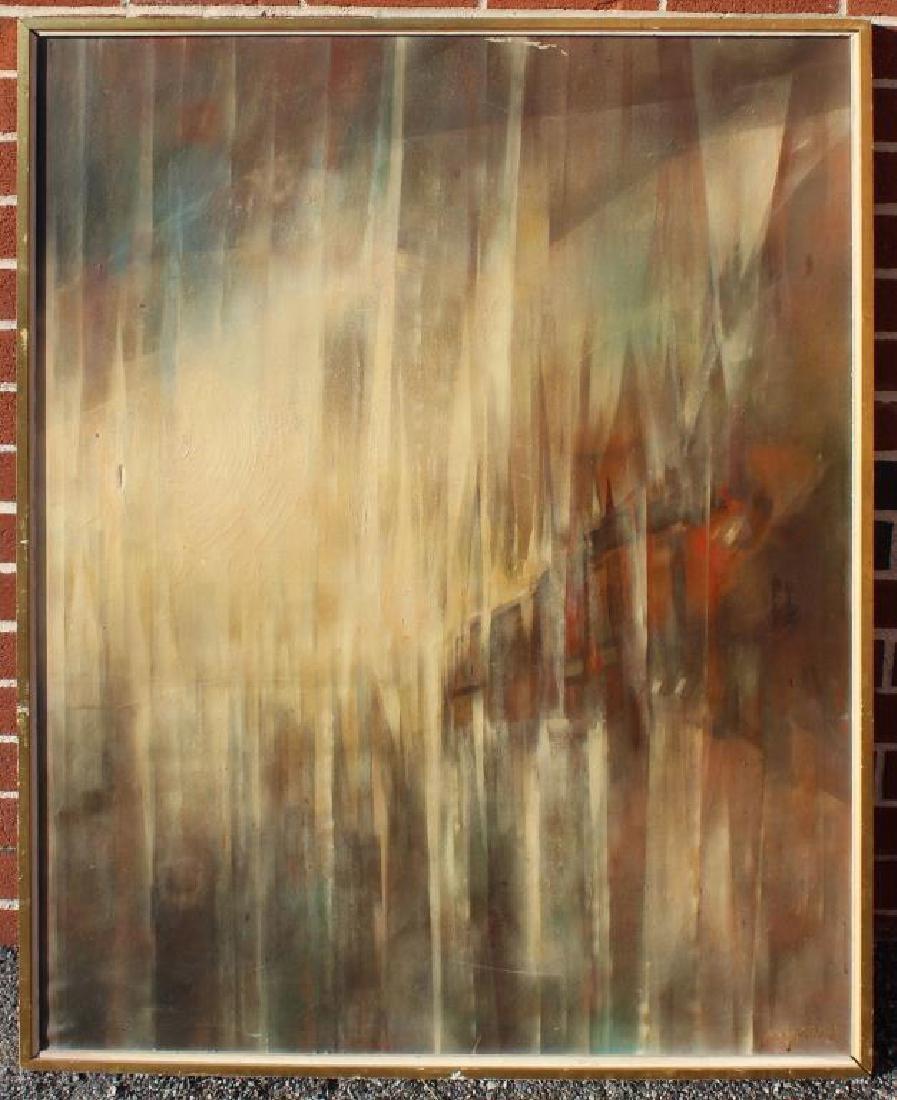 """BECK, Margit. Oil On Canvas. """"Prisms"""". - 2"""