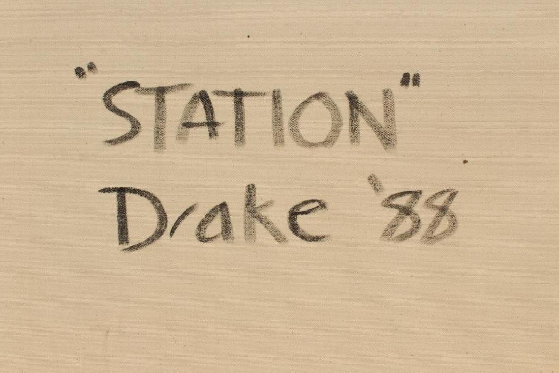 "DRAKE, Peter. Oil On Canvas. ""Station"". - 9"