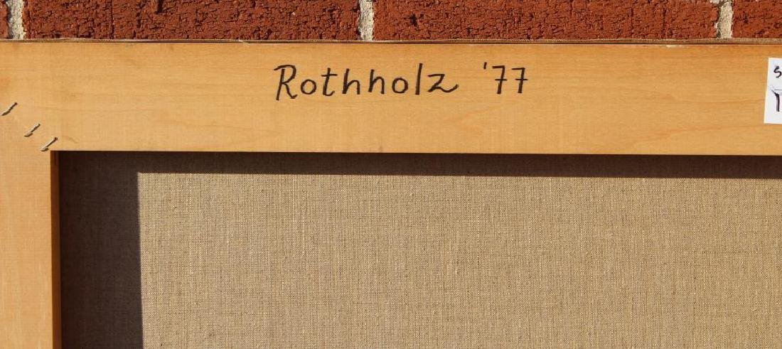 ROTHOLTZ. Oil on Canvas. Abstract. - 6