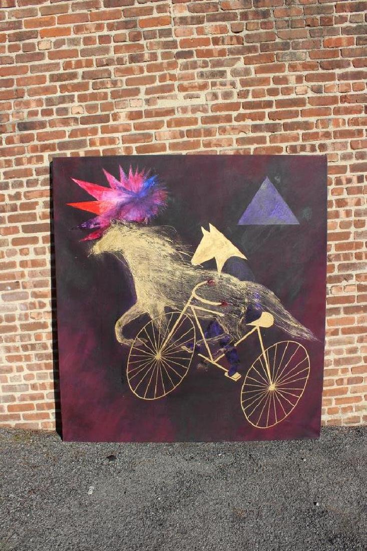 "GIESSMAN, Nancy. Oil on Canvas. ""Ride for - 2"