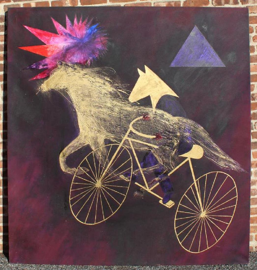 "GIESSMAN, Nancy. Oil on Canvas. ""Ride for - 3"