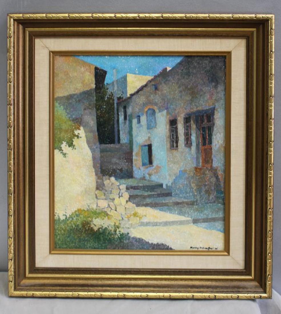 SCHAFFER, Rolly. Oil on Canvas. Village Scene. - 2